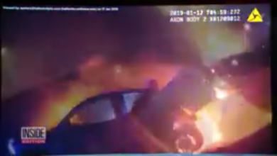 Photo of BRAVE: Cops take lady Out of this Burning Truck (Video)
