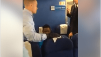Photo of OUTRAGE AS NIGERIAN MAN IS HANDCUFFED AND REMOVED FROM A PLANE IN GERMANY [PHOTOS]