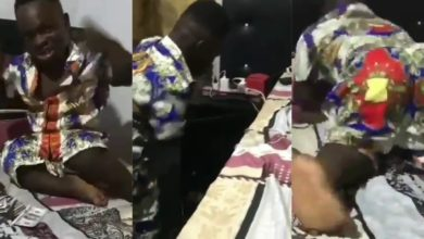 Photo of Shatta Bandle gets angry because his 'money girlfriend' went missing in his well decorated room