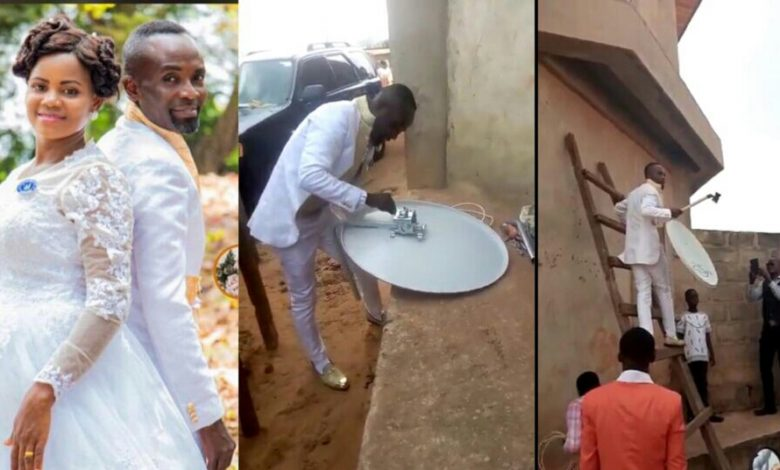 Photo of Groom leaves wife waiting in church while he goes to fix client's DStv