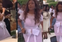 Photo of Nana Ama McBrown's steals show at Joe Mettle's traditional marriage |Video|