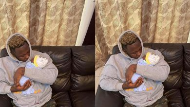 Photo of Medikal shares first photo of his beautiful daughter, Island Frimpong
