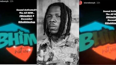 Photo of Second Kantanka – Stonebwoy Releases A 'BHIM' Sound Activated T-Shirt, That Displays Light At The Mention Of BHIM