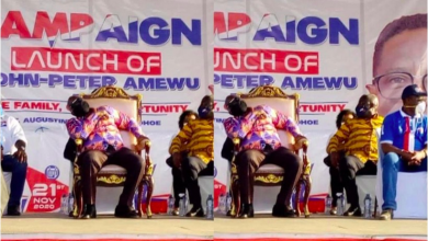 Photo of Photo: Prez Nana Addo caught sleeping at NPP campaign launch in Volta region